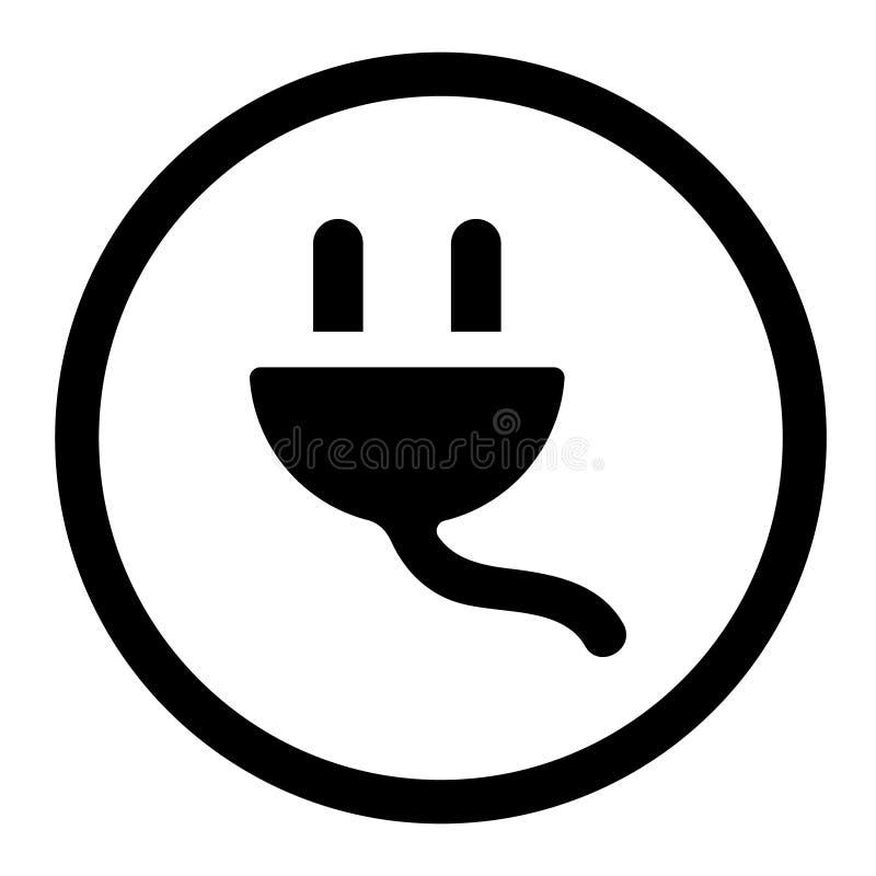 De elektrische vector van het stoppictogram het tric symbool van de lastenillustratie stock fotografie