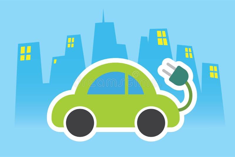 De elektrische vriendschappelijke emissie van autoeco royalty-vrije illustratie