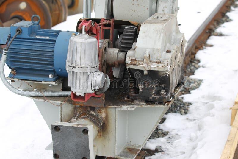 De elektro mechanische actuator kraan van de wielbrug royalty-vrije stock foto's