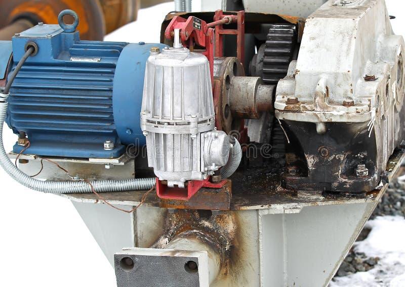 De elektro mechanische actuator kraan van de wielbrug royalty-vrije stock afbeelding