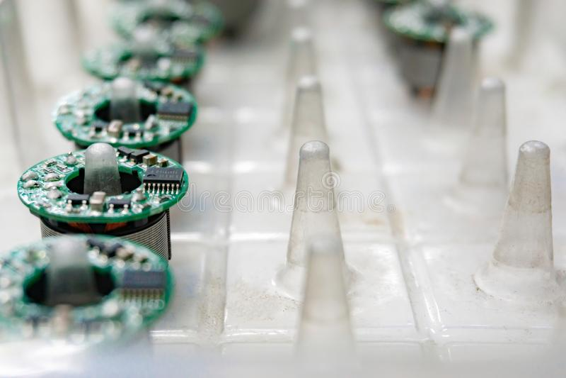 De elektronika Verwerkende Diensten, Assemblage van Kringsraad AR stock foto