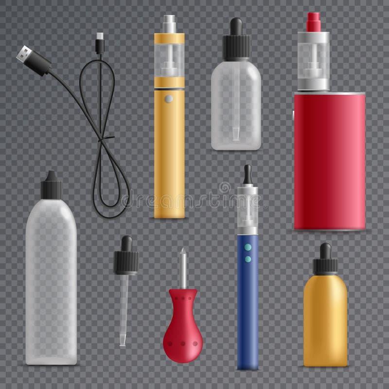 De elektronische Inzameling van Sigaretelementen stock illustratie