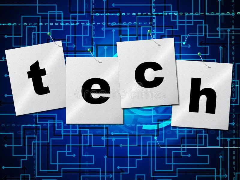 De elektronische Kring vertegenwoordigt hallo Technologie en Gegevensverwerking stock illustratie