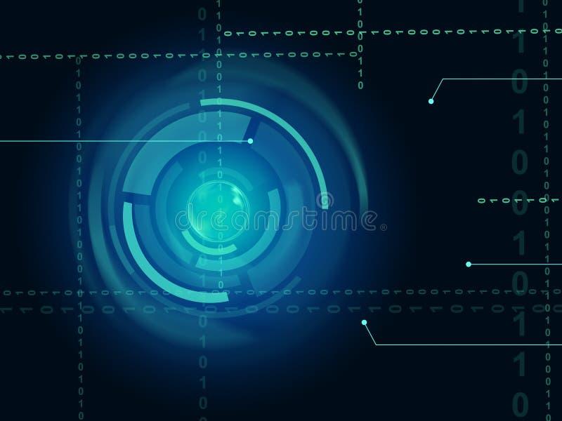 De elektronische Sensorachtergrond betekent Oogsensor of In Technolo royalty-vrije illustratie