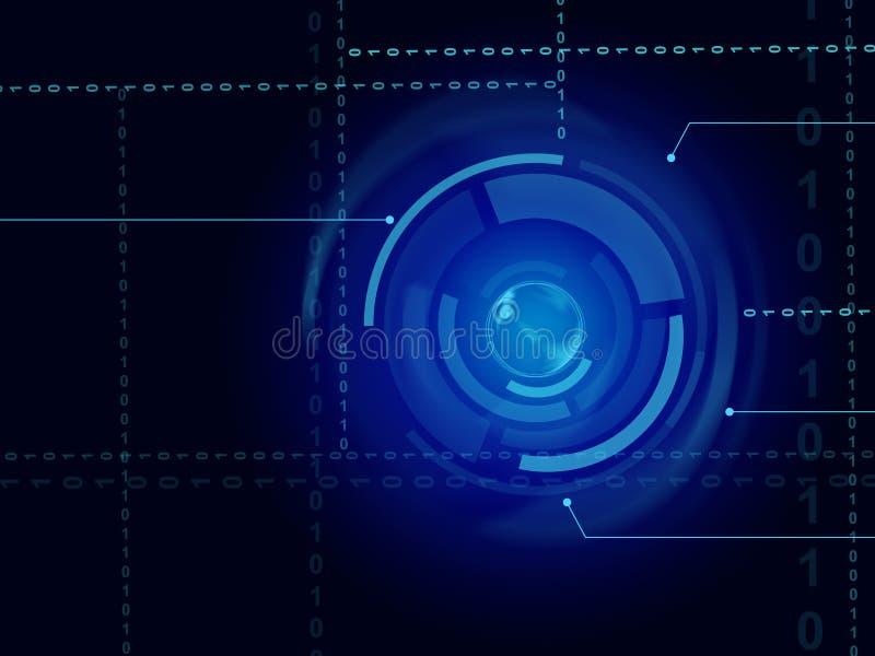 De elektronische Sensorachtergrond betekent In Technologie of Illumina stock illustratie