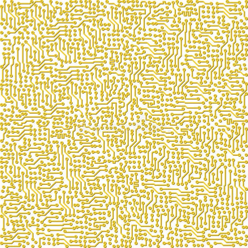 De elektronische vector gouden textuur van de kringsraad vector illustratie