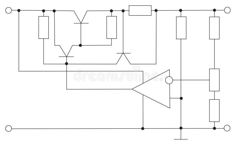De elektronische vector van de regeling royalty-vrije illustratie