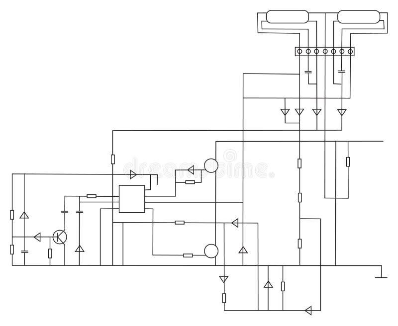 De elektronische vector van de regeling vector illustratie