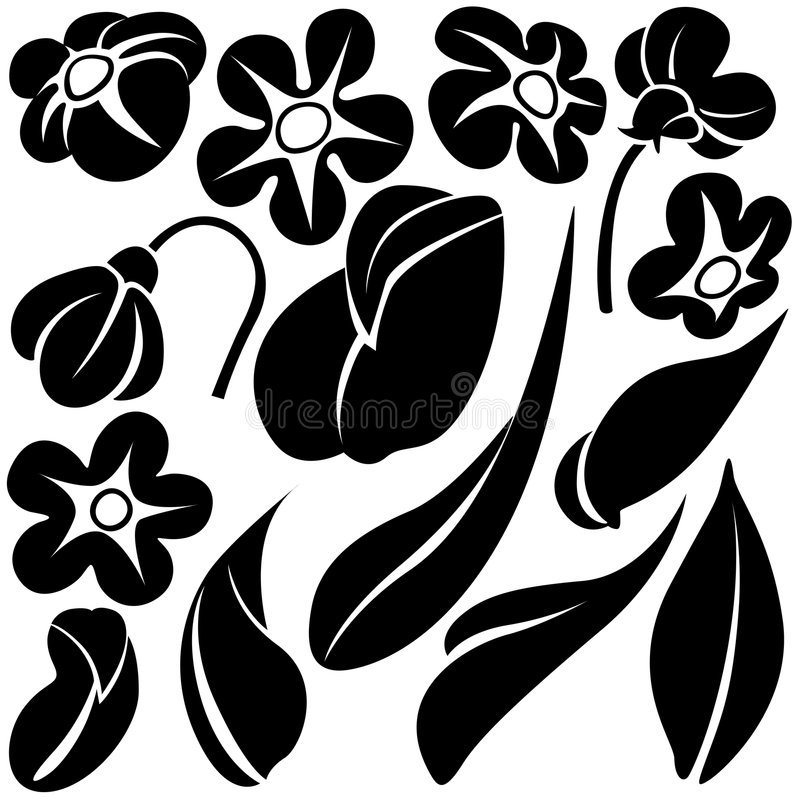 De elementen C van de bloem royalty-vrije illustratie