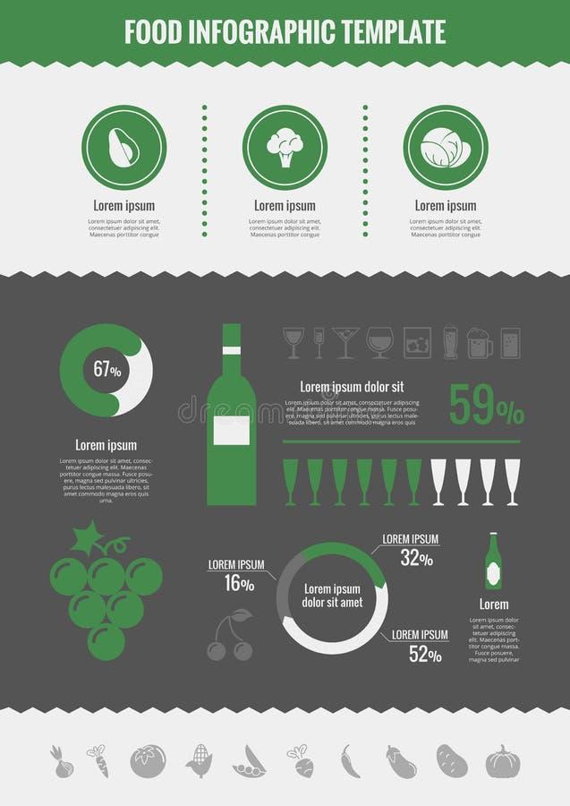 De Elementen van alcoholinfographic vector illustratie