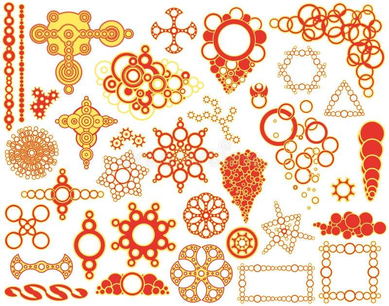 De elementen van de cirkel royalty-vrije illustratie