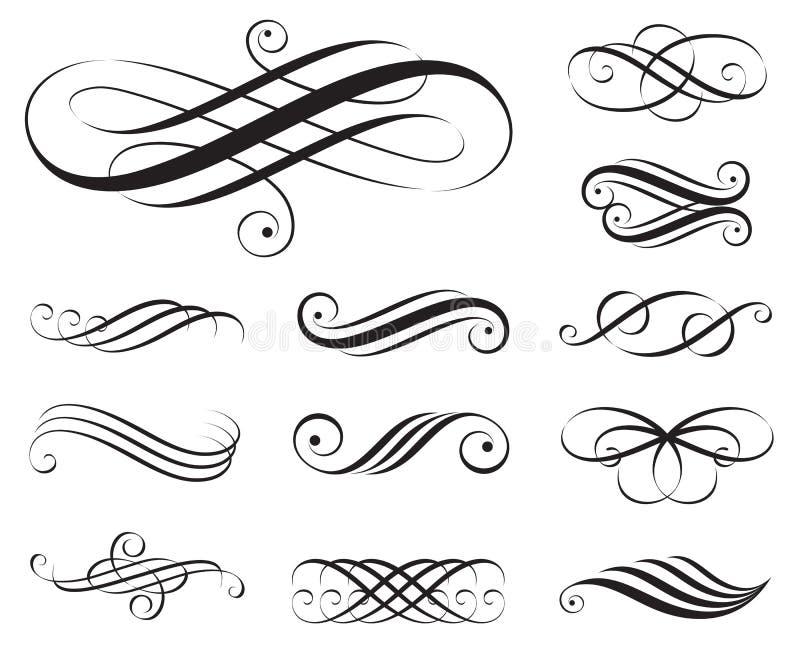 De Elementen van de elegantie royalty-vrije illustratie