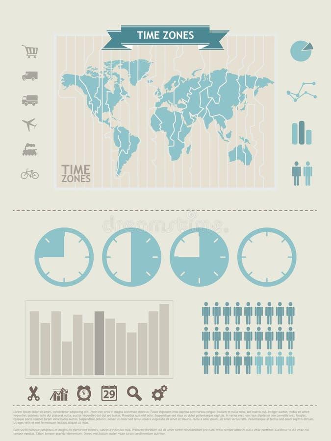 De elementen van de Grafiek van de informatie royalty-vrije illustratie
