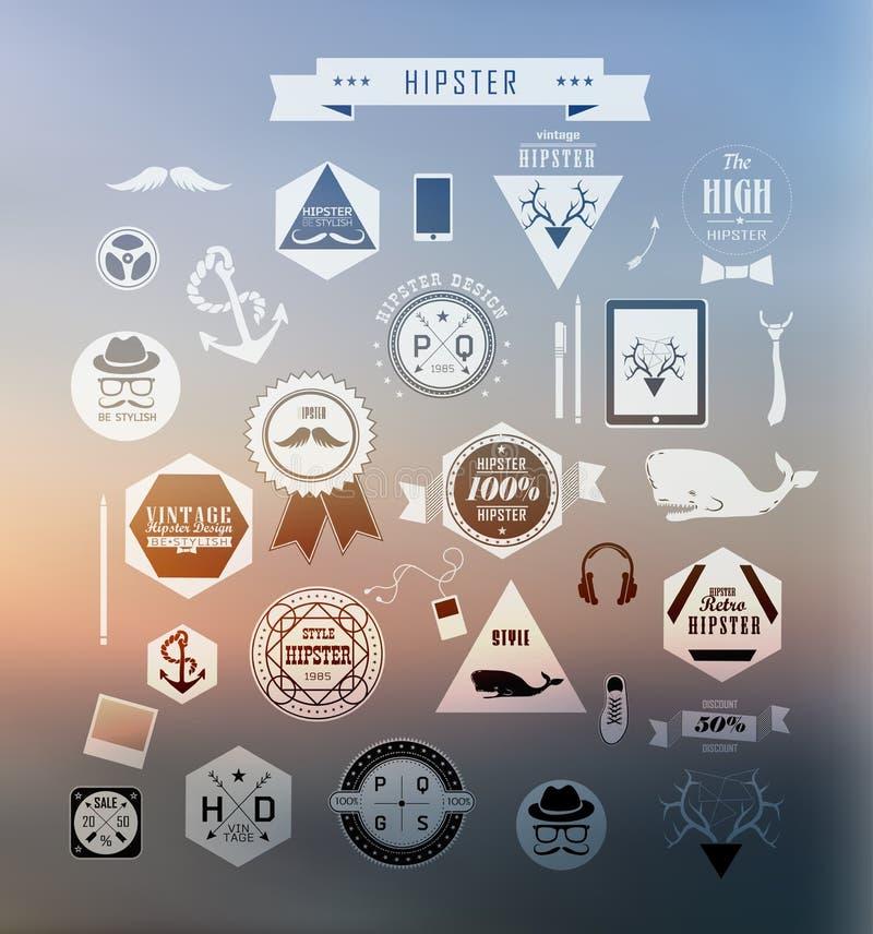 De elementen van de Hipsterstijl stock illustratie