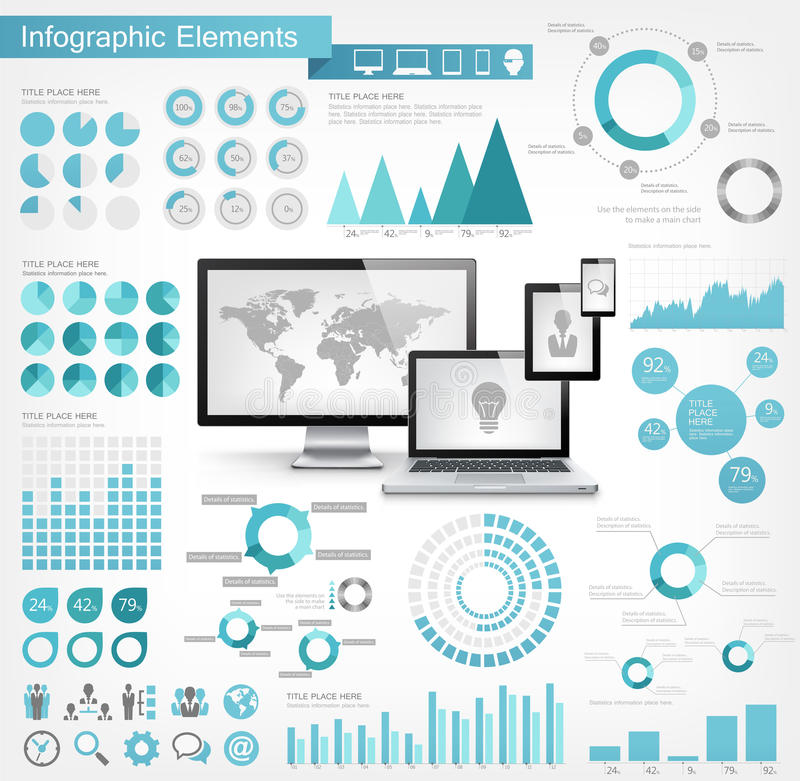IT de Elementen van de Industrieinfographic vector illustratie