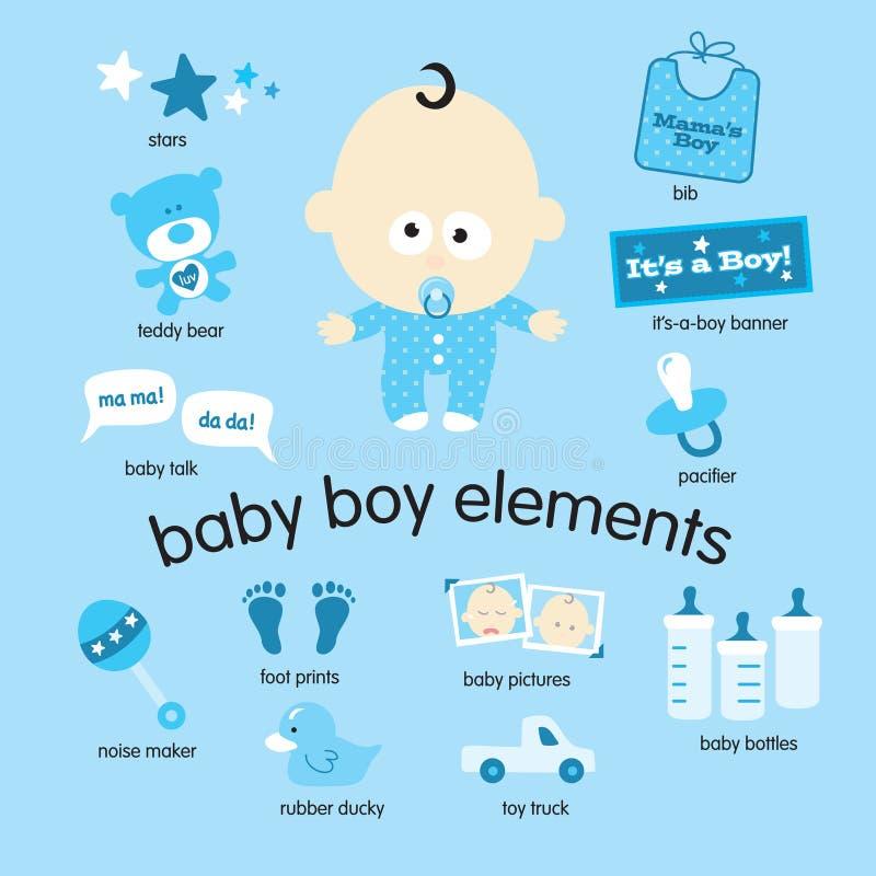 De Elementen van de Jongen van de baby royalty-vrije illustratie