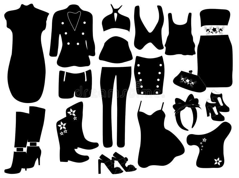 De elementen van de manier voor vrouwen vector illustratie
