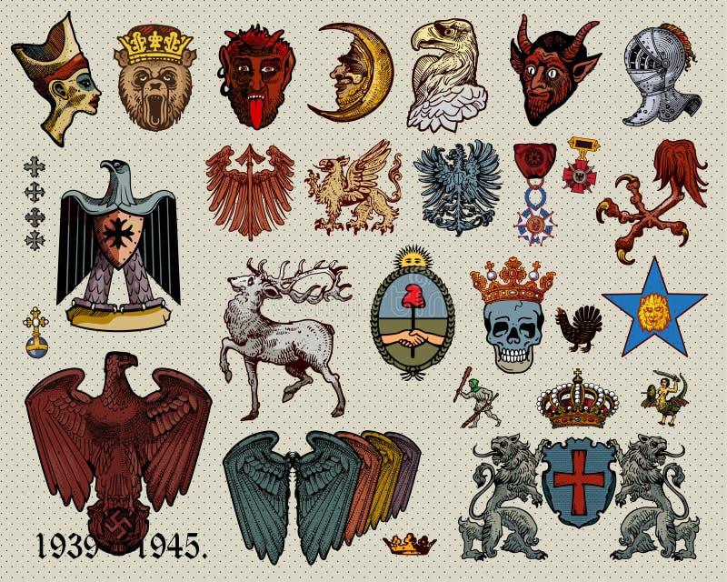 De elementen van de wapenkunde   royalty-vrije illustratie