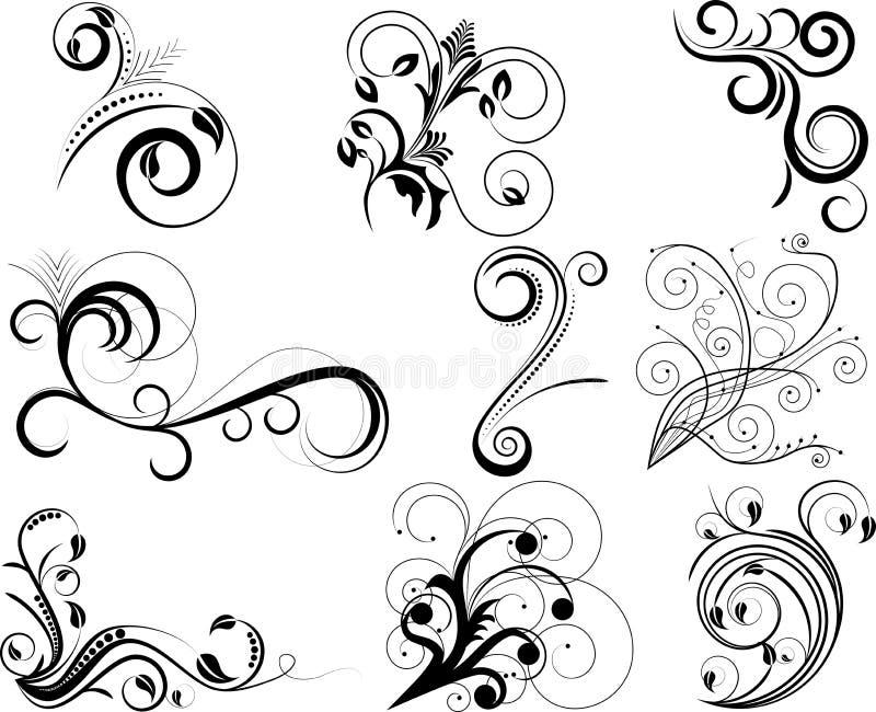 De elementen van de werveling stock illustratie