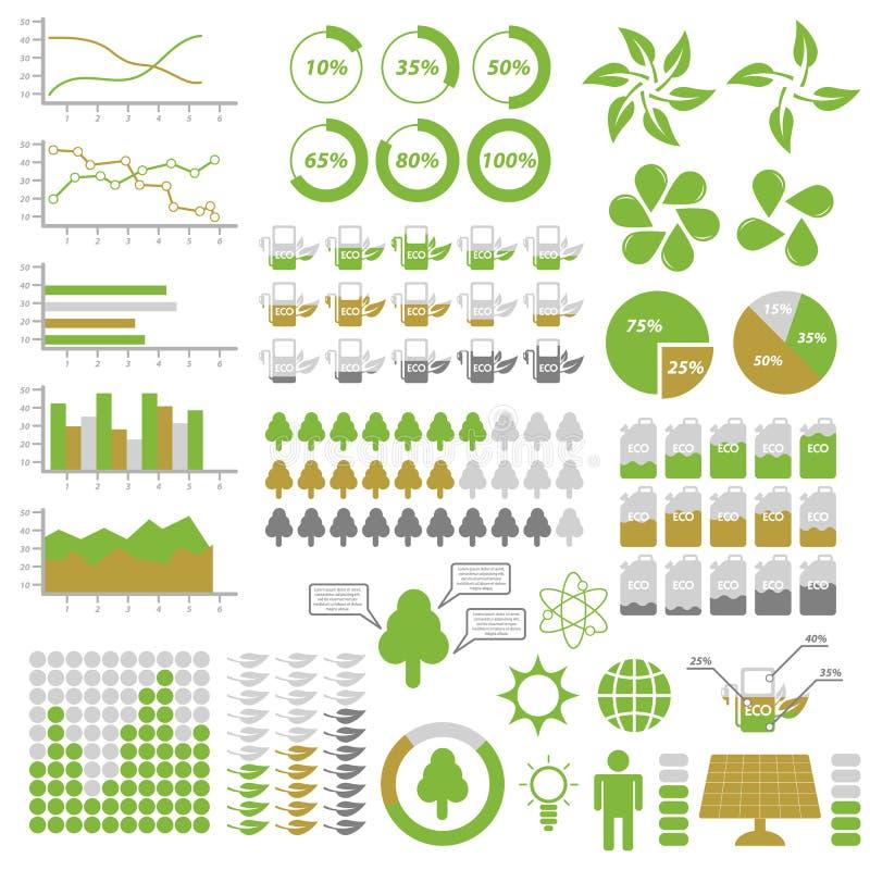 De Elementen van ecologieinfographic vector illustratie