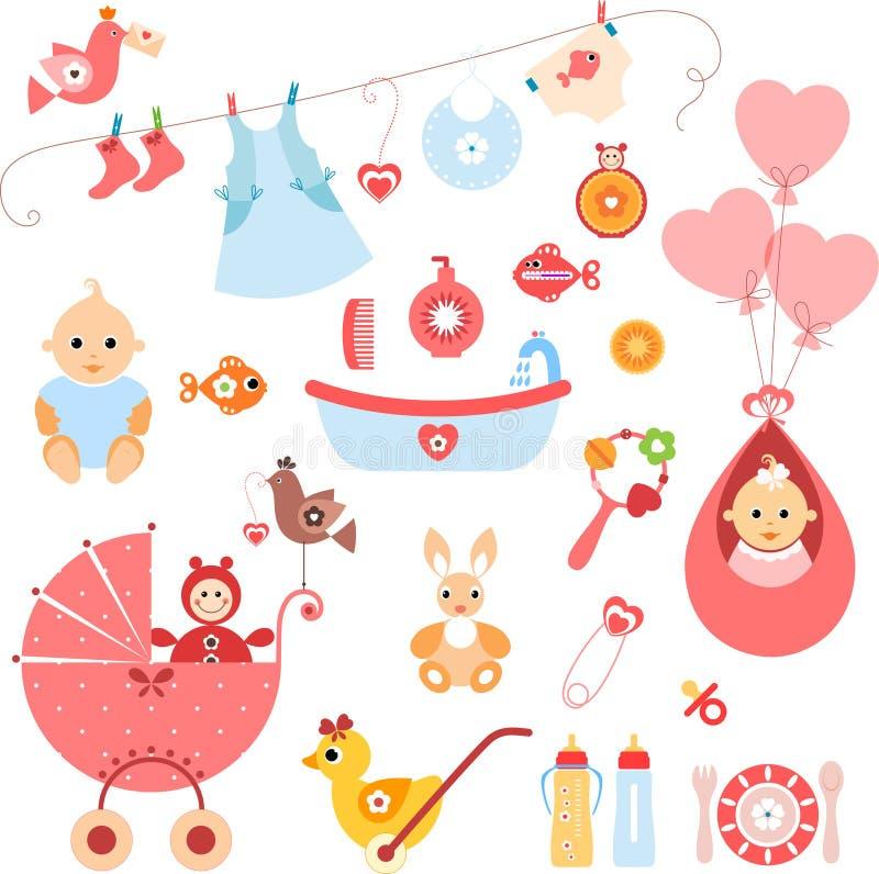 De Elementen van het babymeisje vector illustratie