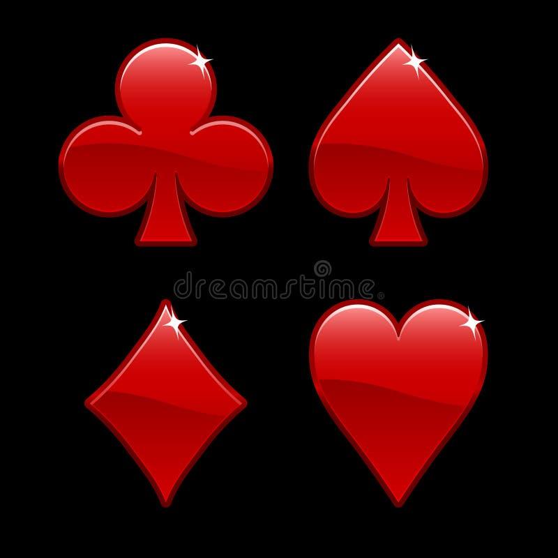 De Elementen van het casino royalty-vrije illustratie
