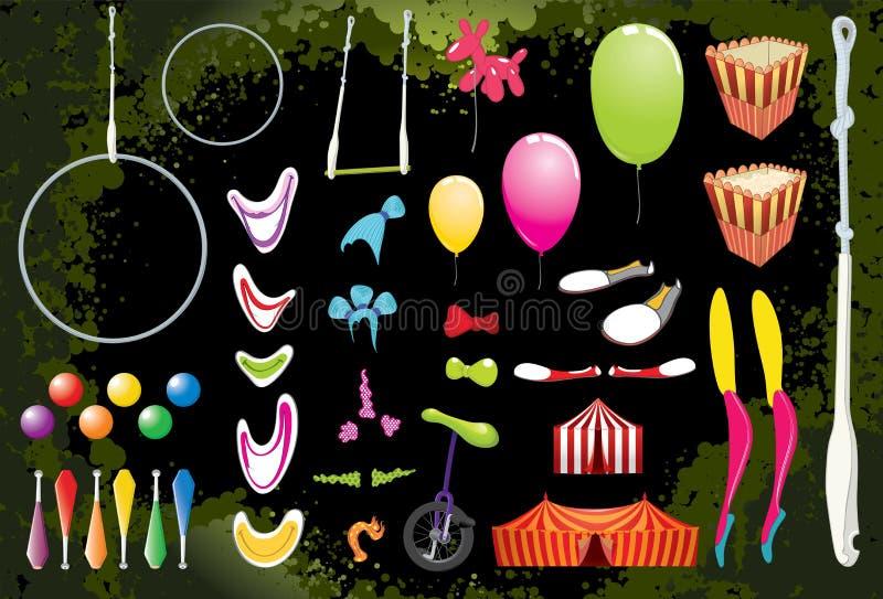 De Elementen van het circus. vector illustratie