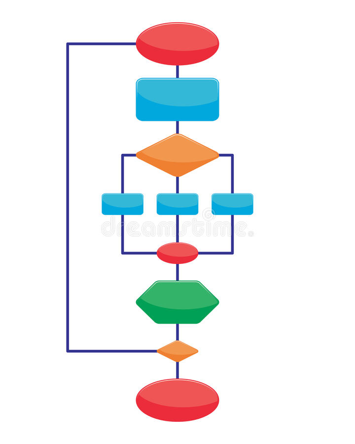 De elementen van het diagram stock illustratie