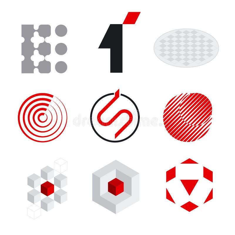 De elementen van het embleem vector illustratie