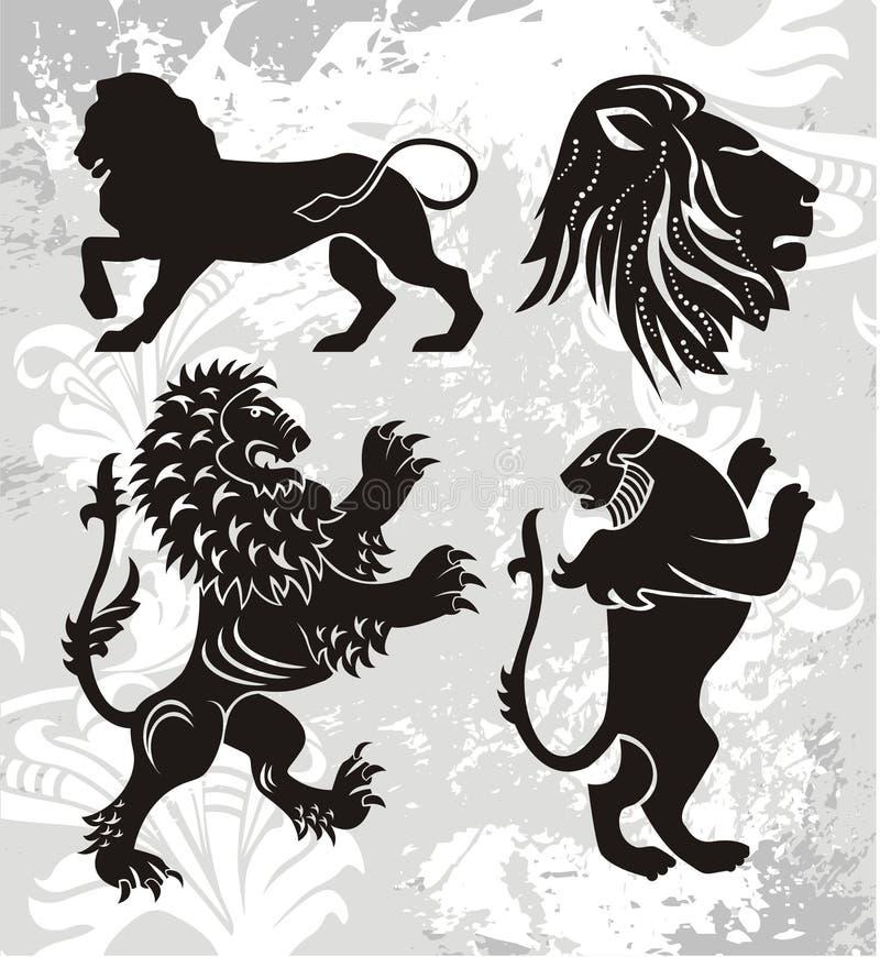De elementen van het embleem stock illustratie