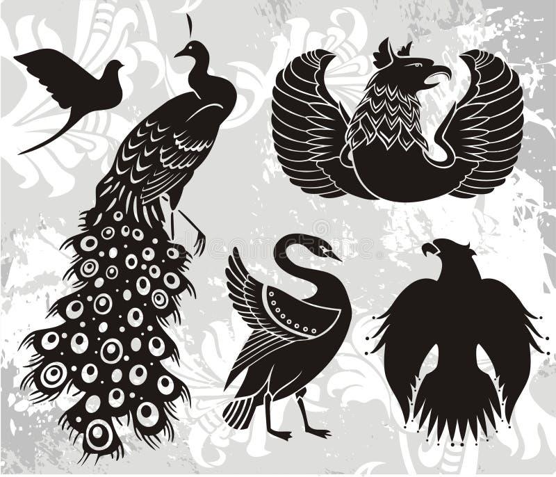De elementen van het embleem royalty-vrije illustratie