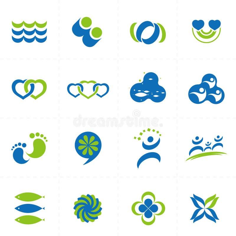 de elementen van het embleemontwerp vector illustratie