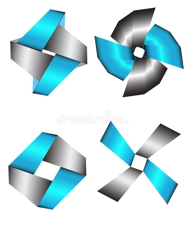 De elementen van het embleemontwerp stock illustratie