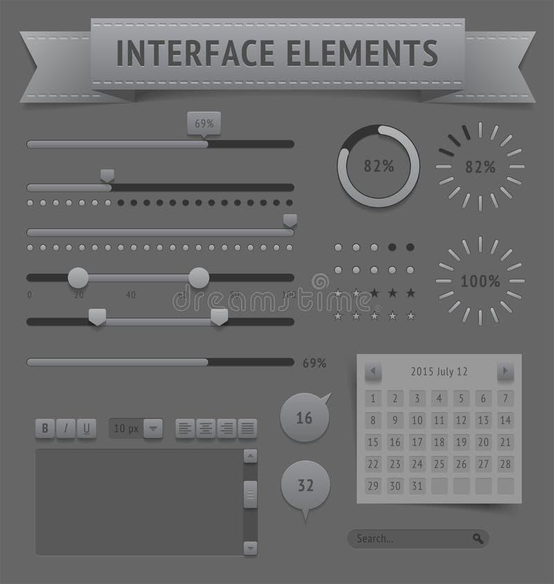 De elementen van het gebruikersinterface stock illustratie