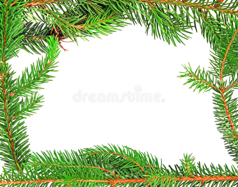 De elementen van het het kaderontwerp van de Kerstmisspar royalty-vrije stock afbeelding