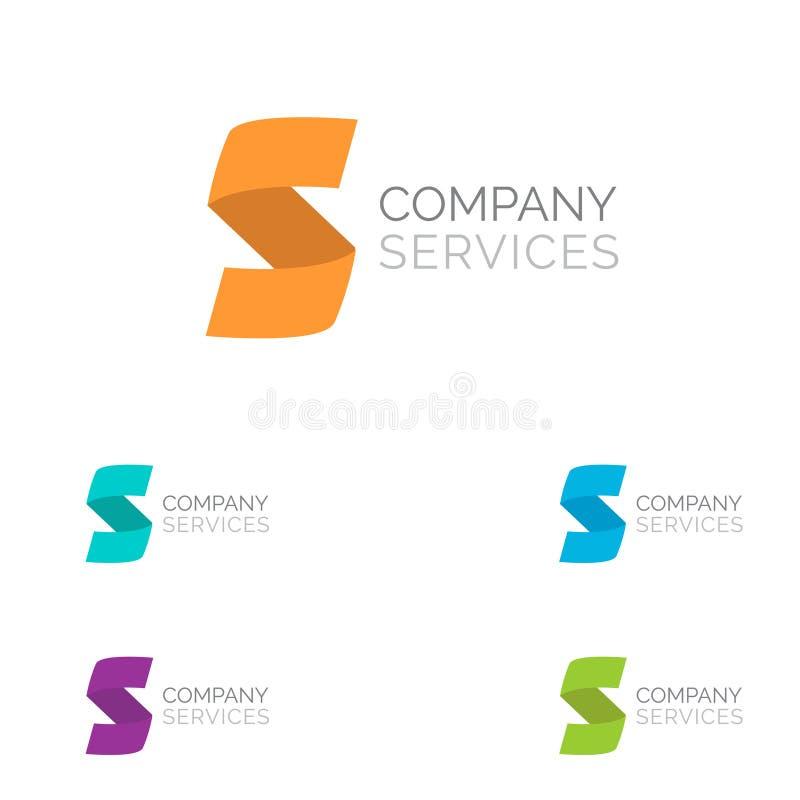 De elementen van het het ontwerpmalplaatje van het brievens embleem in verschillende kleuren royalty-vrije illustratie