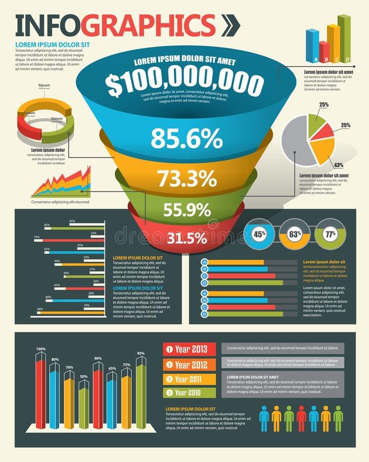 De elementen van het Infographicontwerp vector illustratie