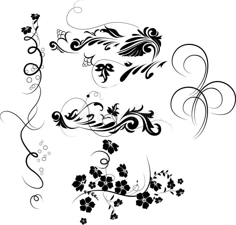 De elementen van het ontwerp. stock illustratie