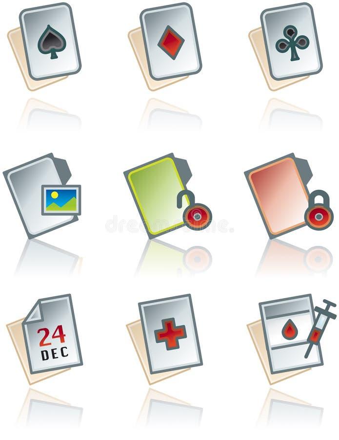 De Elementen van het ontwerp 43b. Geplaatste de Pictogrammen van de werken van het document vector illustratie