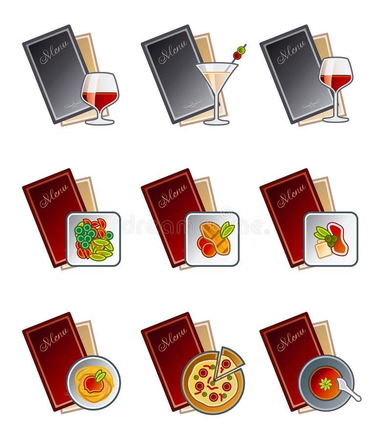 De Elementen van het ontwerp 47c. Geplaatste de Pictogrammen van het menu vector illustratie