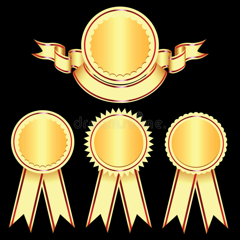 De Elementen van het ontwerp - Emblemen en medailles. vector illustratie