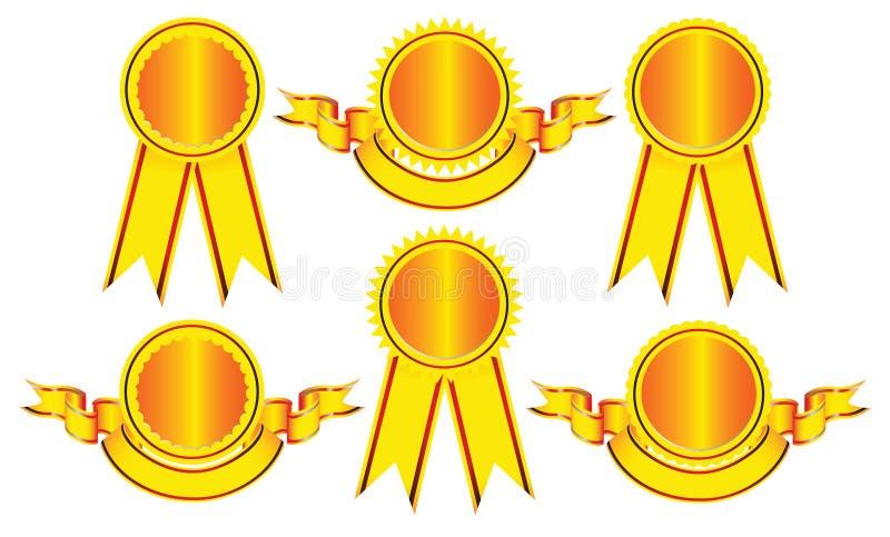 De Elementen van het ontwerp - Emblemen en medailles. stock illustratie