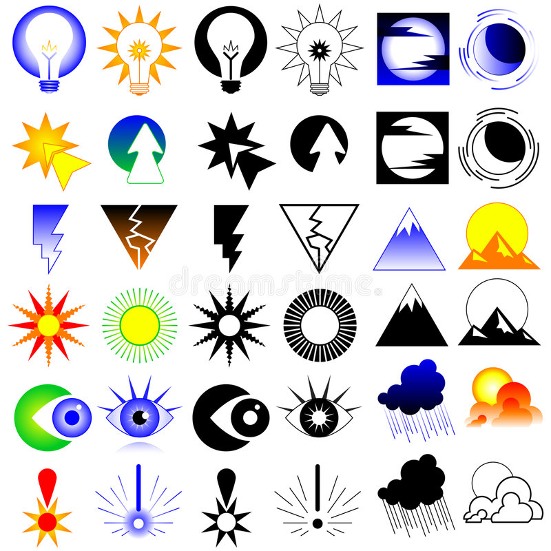 De Elementen van het Ontwerp van de innovatie stock illustratie