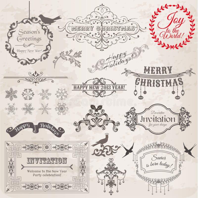 De Elementen van het Ontwerp van Kerstmis royalty-vrije illustratie