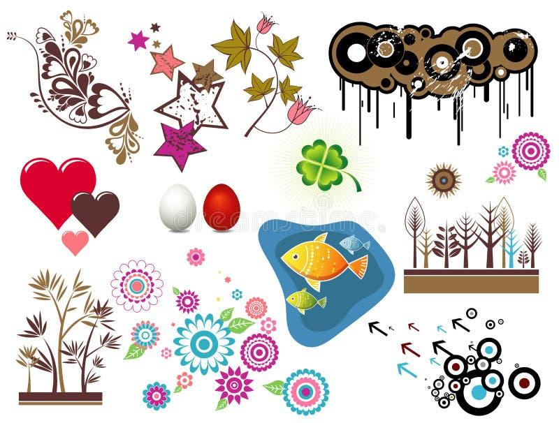 De elementen van het ontwerp, vector vector illustratie