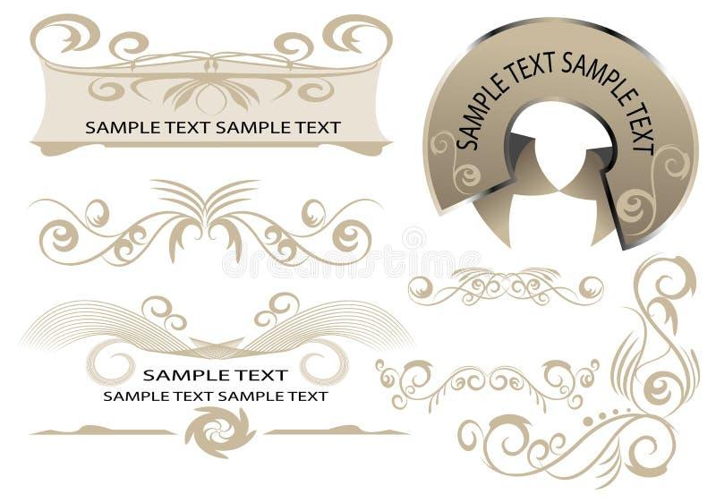 De elementen van het ontwerp voor Web-pagina vector illustratie