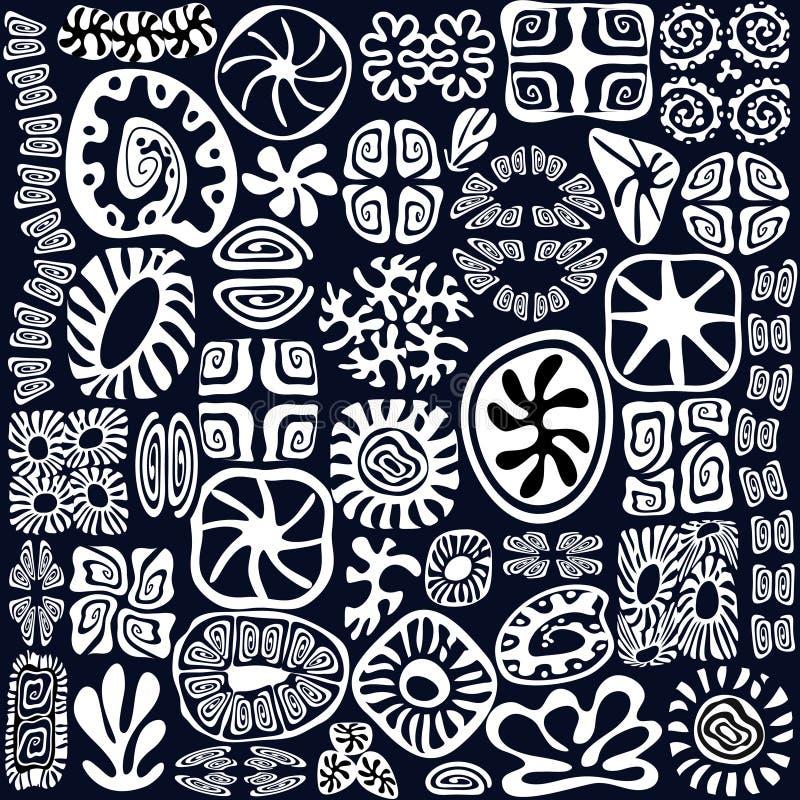De elementen van het ontwerp zien overladen het leven vector illustratie
