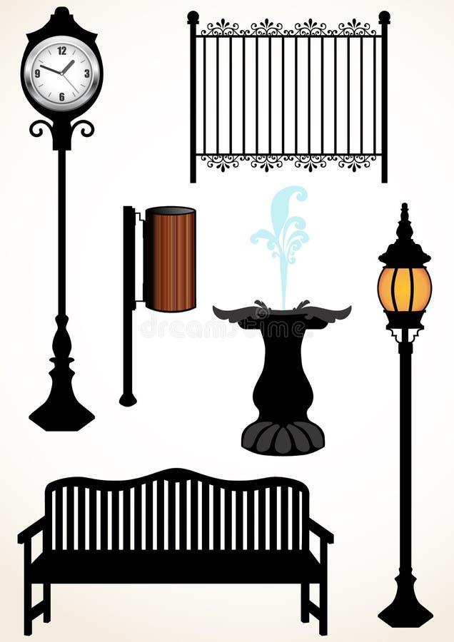 De elementen van het park royalty-vrije illustratie