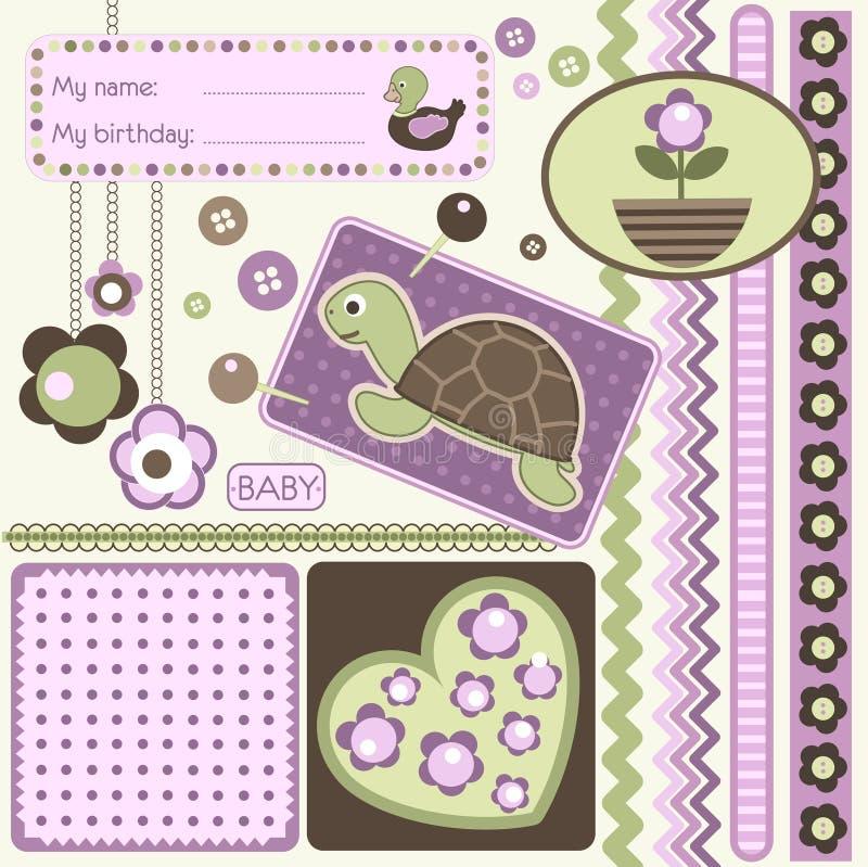 De elementen van het plakboek vector illustratie