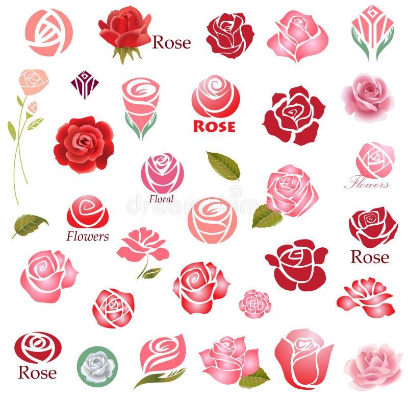 De elementen van het rozenontwerp stock illustratie